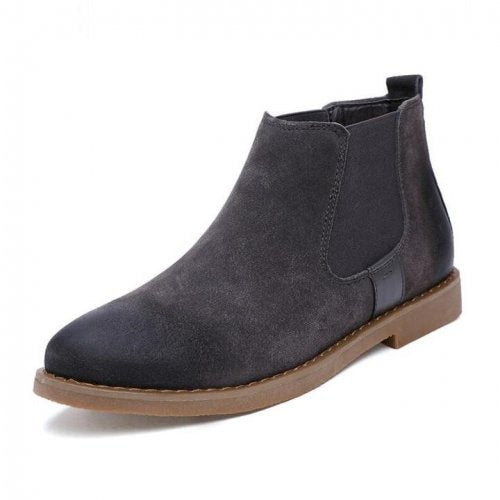 Men Chelsea Suede Leather Ankle Boots - FashionzR4U