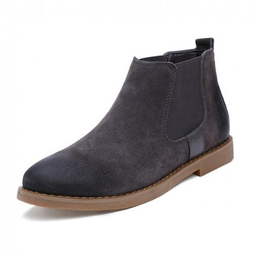 Men`s Chelsea Ankle Suede Leather Casual Boots
