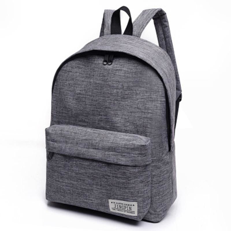 Unisex Canvas Students Gray Backpacks