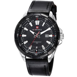 Quartz Watch Men Military Leather Sports Watch - FashionzR4U