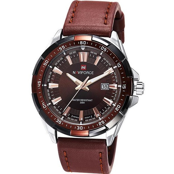 Men Military Leather Sports Watch