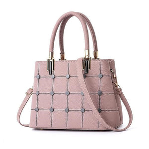 Women Rivet Design Messenger Leather Bags - FashionzR4U