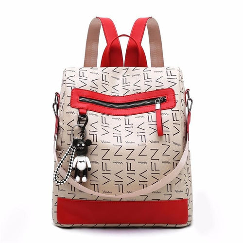 Women Fashion Zipper Leather High Quality Shoulder Backpack - FashionzR4U