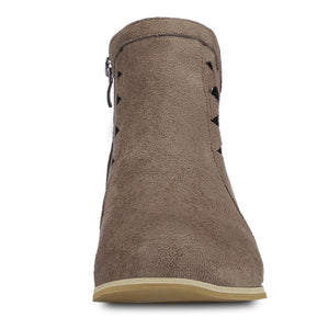 Women Suede Hollow Thick Heel Large Size Ankle Boots