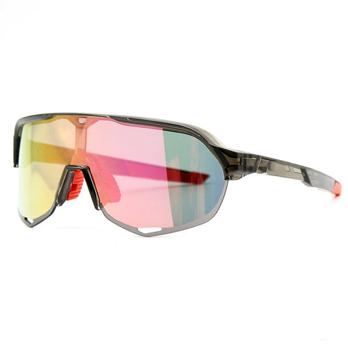 Men Half Frame Two Pieces Color Sports Sunglasses - FashionzR4U
