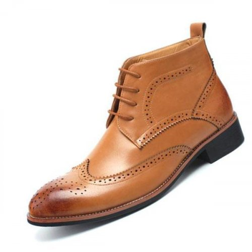 Men`s Bullock Leather Casual Ankle Oxford Boots