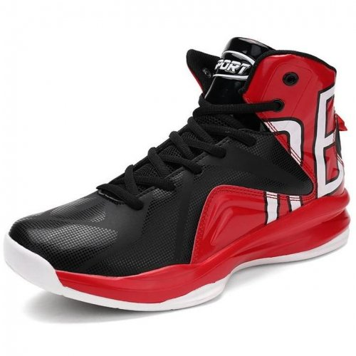 Men Lace Up High Top Basketball Sneakers