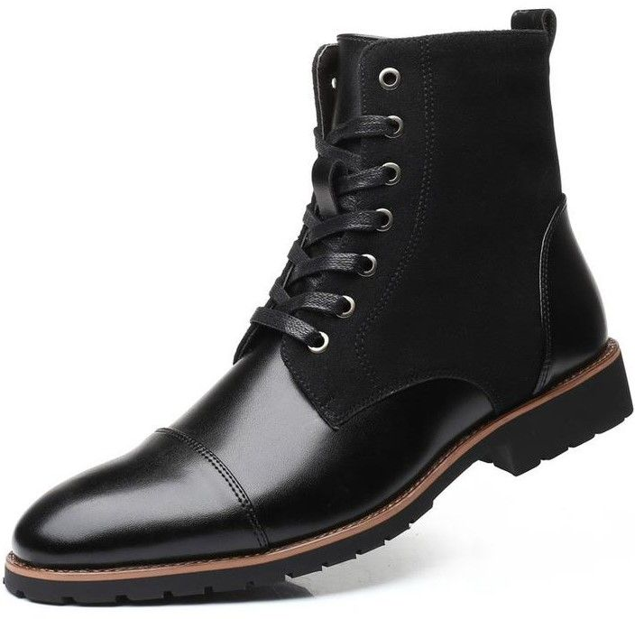 Men Business Quality Leather Ankle Boots - FashionzR4U