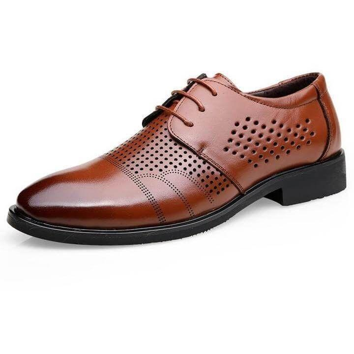 Men Classic Leather Oxford Lace Up Dress Shoes - FashionzR4U