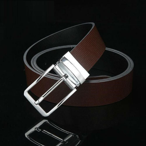 Men Genuine Leather Luxury Pin Buckle Belts - FashionzR4U