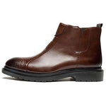Men Vintage Zipper Casual Leather Ankle Boots