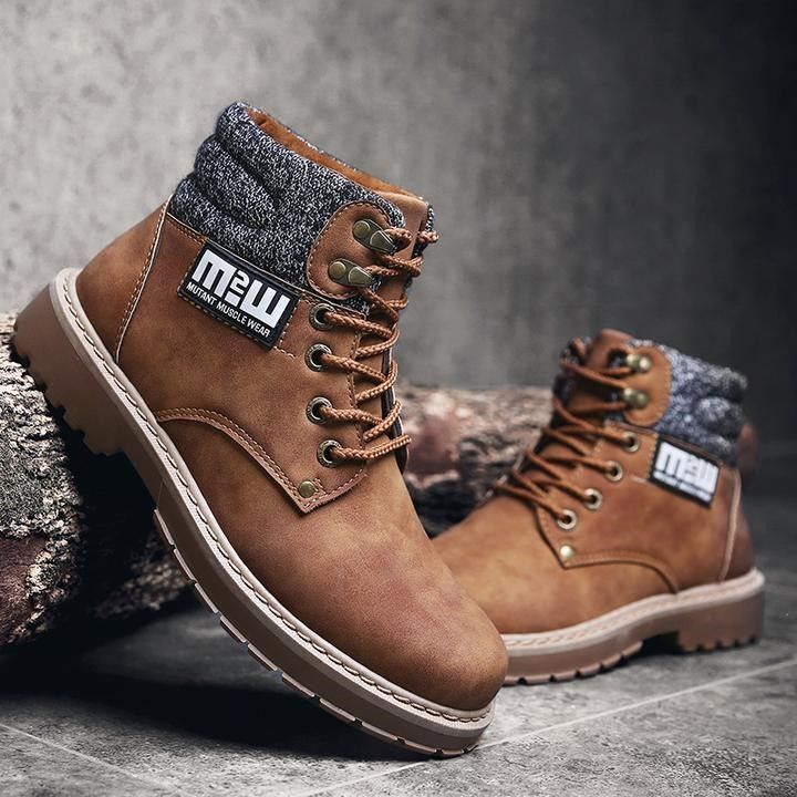 Men High Top Work Boots - FashionzR4U