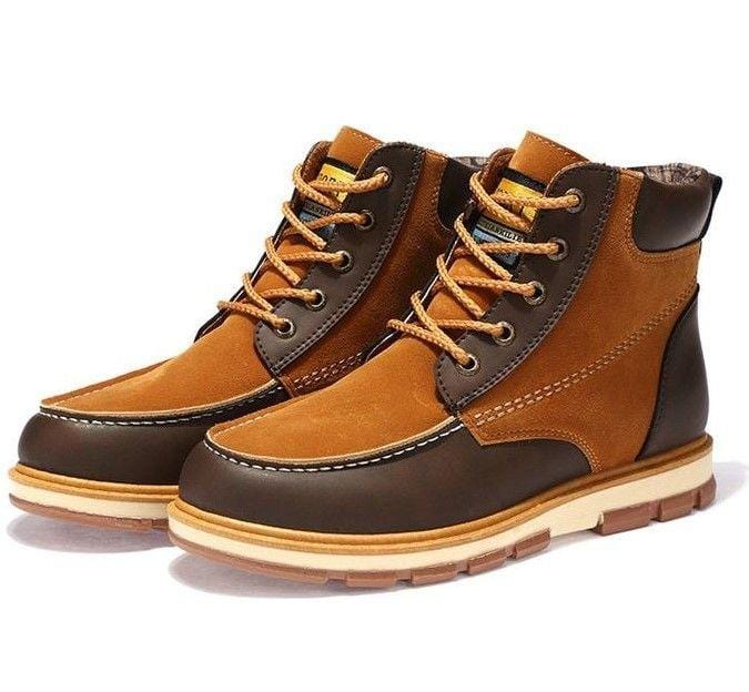 Men Casual Safety Work Lace Up Boots