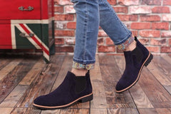 Men Casual Chelsea Suede Leather Ankle Boots - FashionzR4U