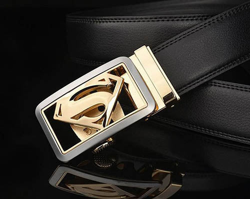 Men Super Man Buckle Design Leather Belts - FashionzR4U