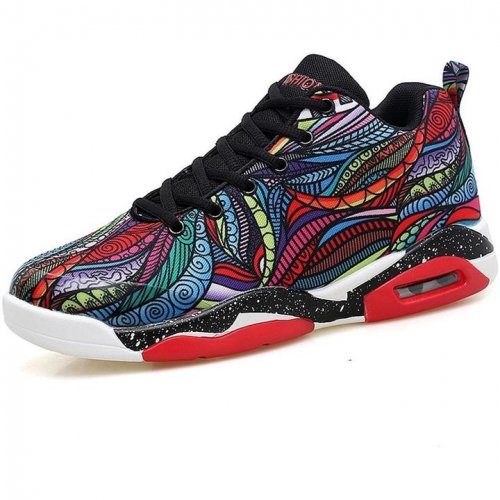 Men Colorful Air Cushion Sport Sneakers