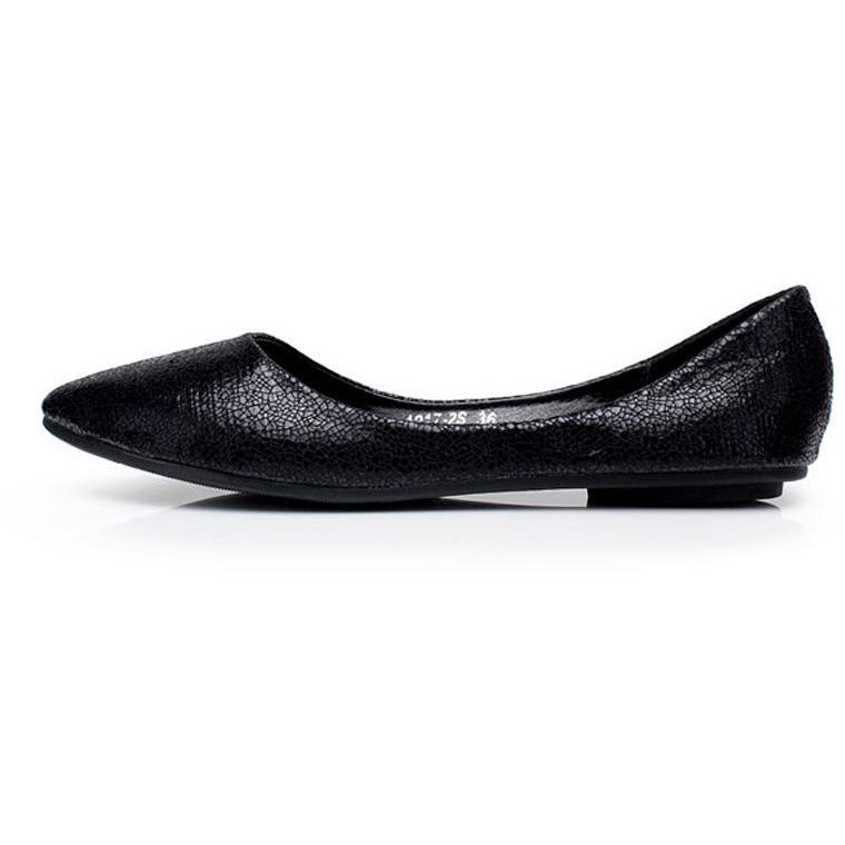Women Fan Flat Fashion Pointy Toe Shoes - FashionzR4U