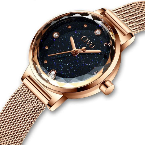 Women Fashion Mesh Wristband Casual Waterproof Luxury Watch - FashionzR4U