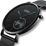 Men Luxury Ultra Thin Minimalist Mesh Sports Quartz Casual Watch - FashionzR4U