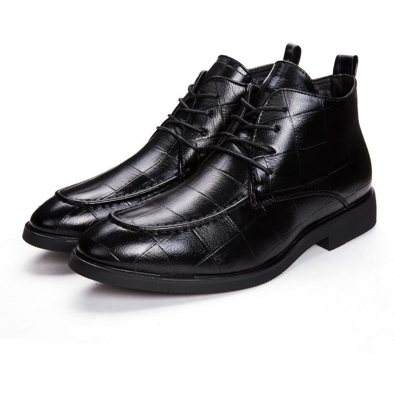 New Design High Top Men`s Leather Handmade Shoes - FashionzR4U