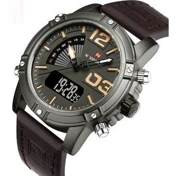 Digital Leather Sports Quartz WristWatch - FashionzR4U