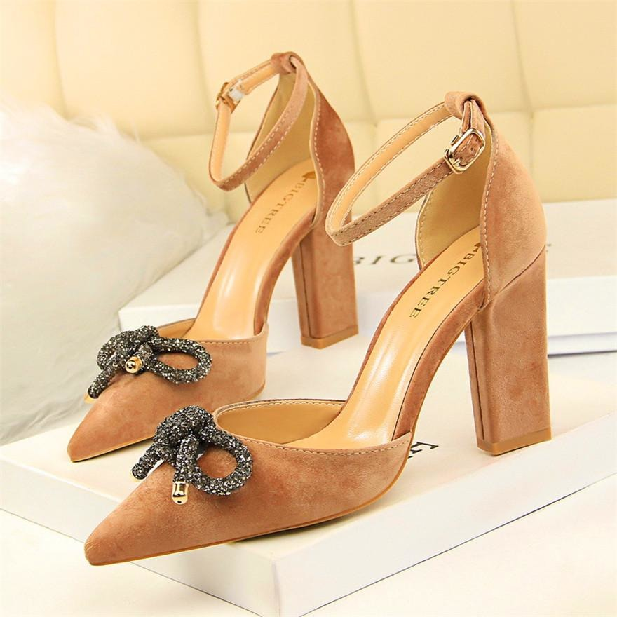 Women Butterfly Knot Buckle Shoes - FashionzR4U