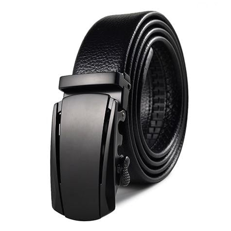 Men High Quality Leather Metal Buckle Belts