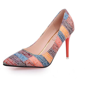 Woman Rainbow style Heel Shoes - FashionzR4U