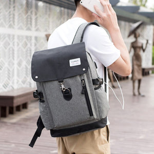 Men 15 Inch Laptop Anti Theft Cover Teenage School Backpack - FashionzR4U