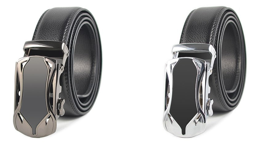 Men Ratchet Leather Dress Buckle Belts - FashionzR4U
