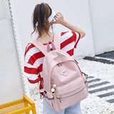 Girls Anti Theft USB Charging Pendant Waterproof School Backpack - FashionzR4U