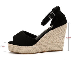 Women Wedge Strap Ankle Shoes