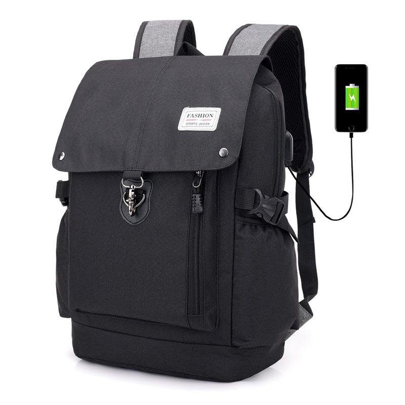 Men 15 Inch Laptop Anti Theft Cover Teenage School Backpack
