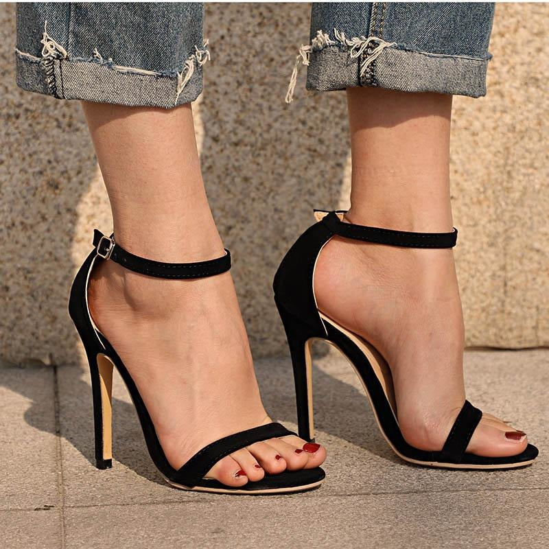 Women Thin High Heel Ankle Strap Shoes - FashionzR4U