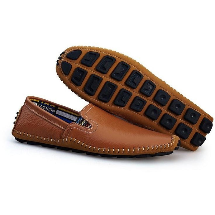 Men Handmade Soft Leather Slip On Loafers - FashionzR4U