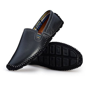 Handmade Soft Men's Natural Leather Casual Slip On Loafers - FashionzR4U