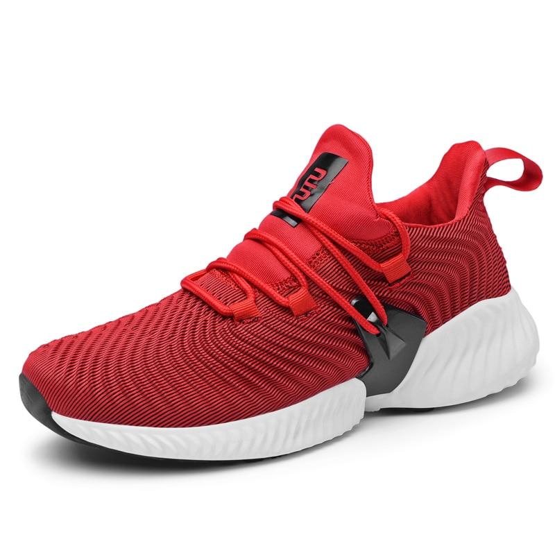 Men Breathable Lace-up Trainer Light Sneakers