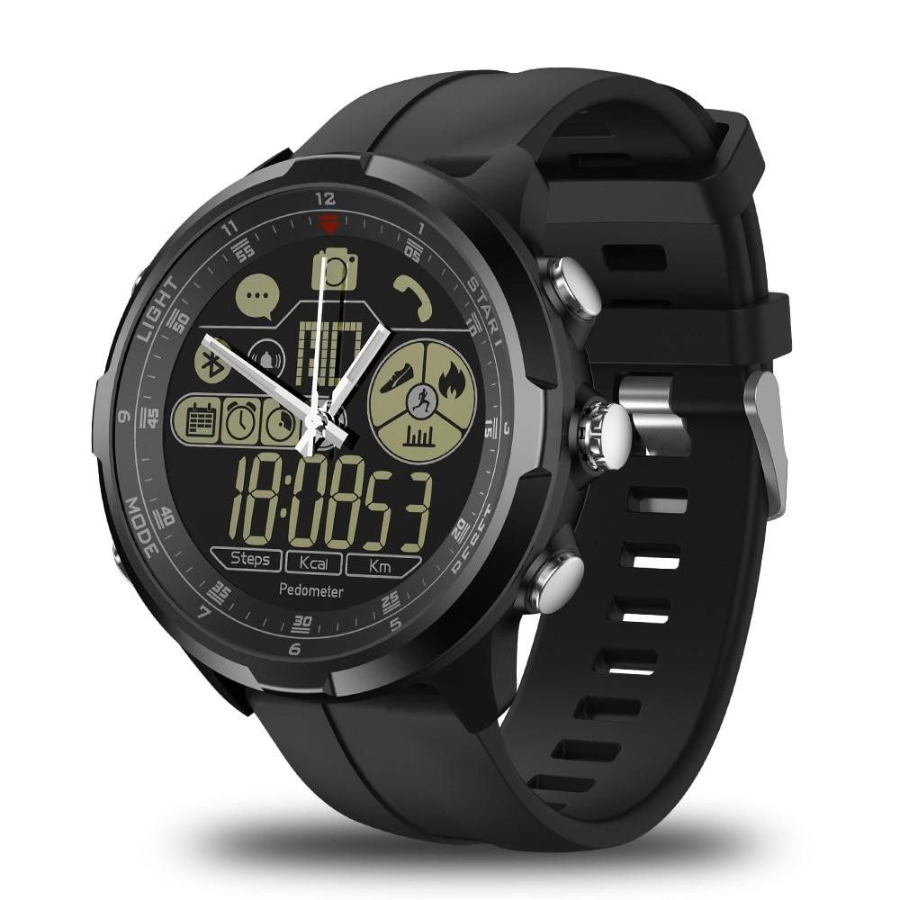 Men IP67/50M ZEBLAZE VIBE 4 HYBRID Rugged  1.24inch FSTN Mechanical Glass Smartwatch