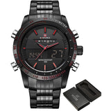 Men Stainless steel Digital Analog Sport Watch - FashionzR4U