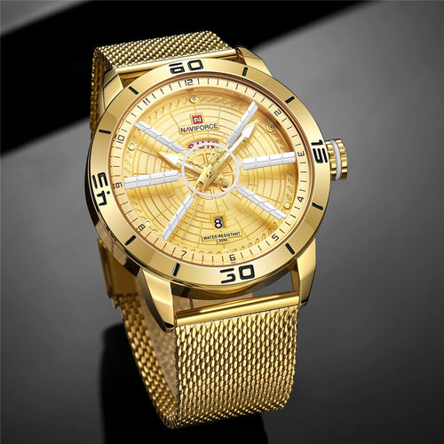Men Luxury Brand 30M Waterproof Casual Analog Steel Watch - FashionzR4U