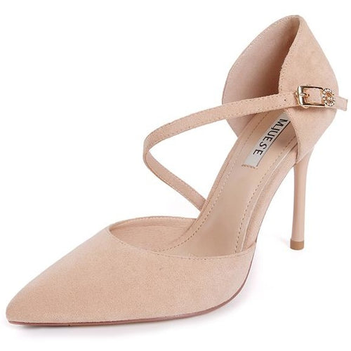 Women Pointed Toe Buckle Strap Shoes - FashionzR4U