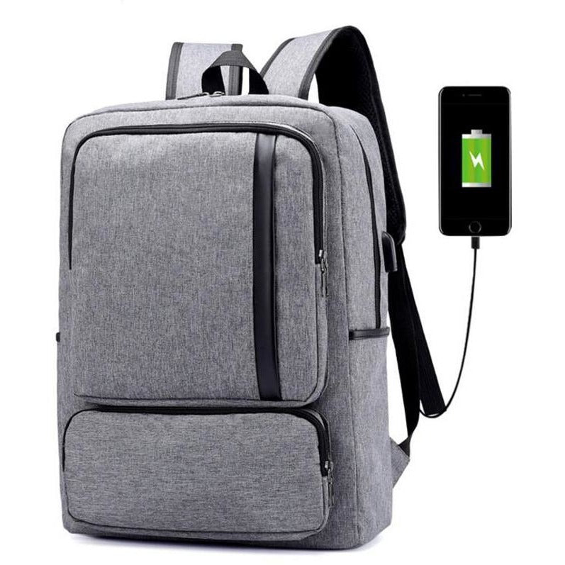 Unisex USB Charge Tablet Shoulder Backpack - FashionzR4U