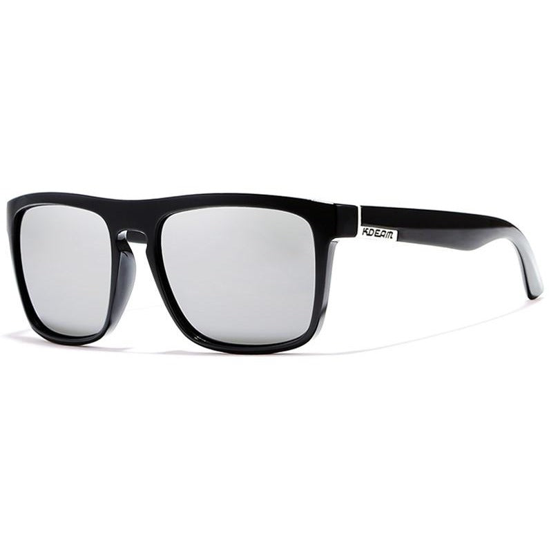 Men Black Case Flat Top Polarized Sunglasses - FashionzR4U