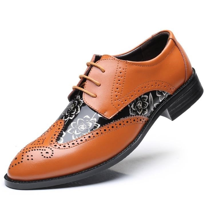Men Brogue Dress Oxford Business Leather Shoes