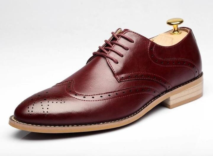 Men Casual Handmade Leather Brown Shoes