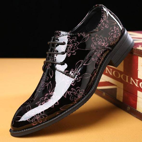 Men Flowers Casual Oxfords Leather Shoes - FashionzR4U