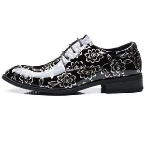 Men Flowers Casual Oxfords Leather Shoes