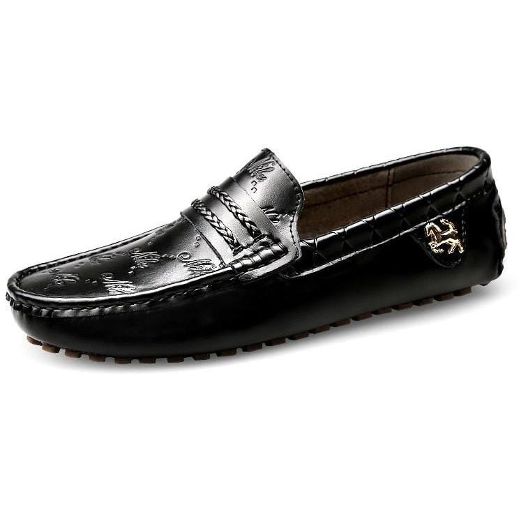 Men Casual Breathable Leather Slip On Flats Shoes - FashionzR4U