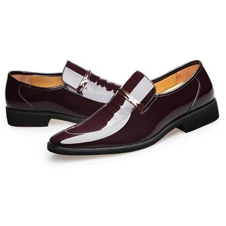 Men Oxford Pointed Dress Leather Shoes