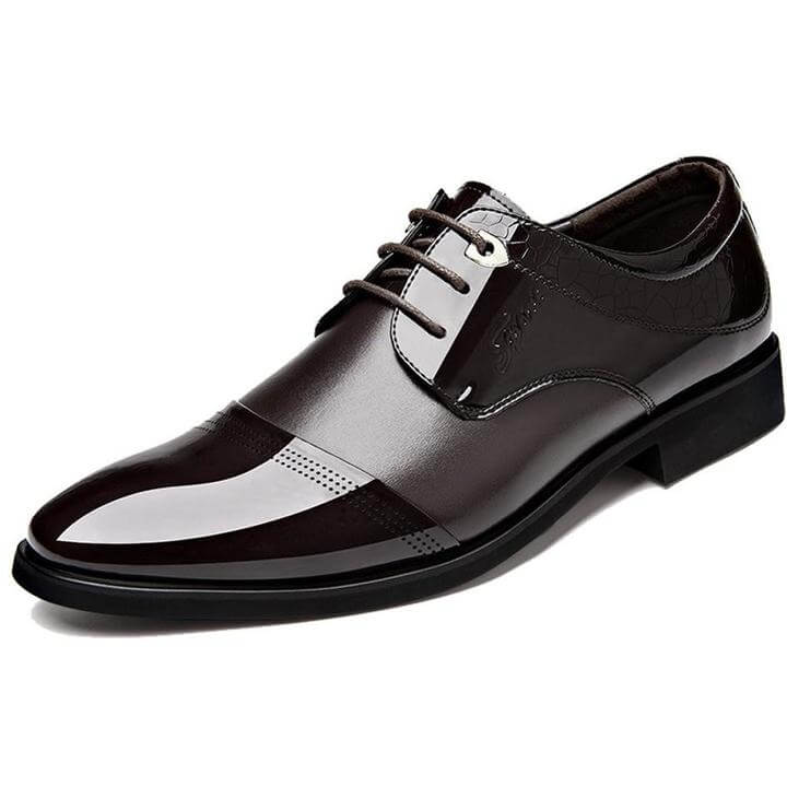 Men Pointed Toe Flats Oxford Leather Shoes - FashionzR4U